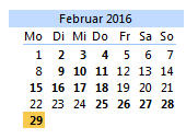 Bewerbungsschluss: 29.02.2016