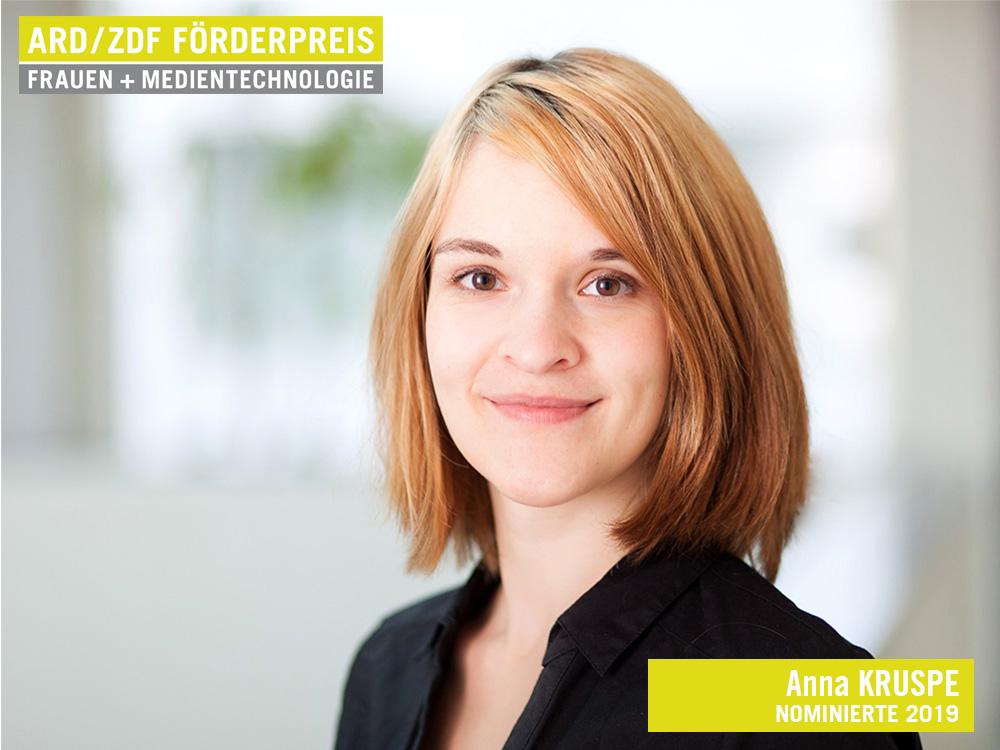 Anna Kruspe, ARD/ZDF-Förderpreis Nominierte 2019